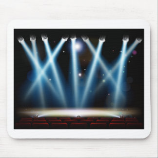 Spotlights Theater Stage Mouse Pad
