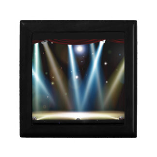 Spotlights Theater Stage Small Square Gift Box