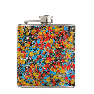 Spots and Drips Hip Flask