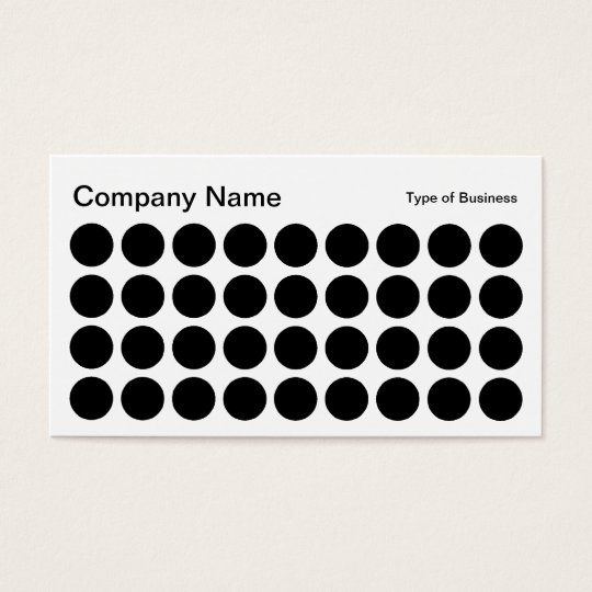 Spots - Black and White Business Card