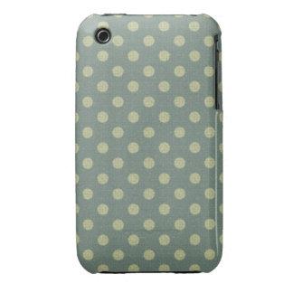 Spots blue, beige, texture fabric Case-Mate iPhone 3 case
