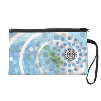 Spots in Circles Wristlet