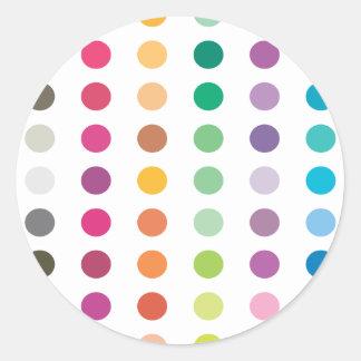 Spots Stickers Round Sticker