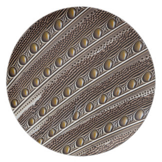 Spotted Argus pheasant feather Plate
