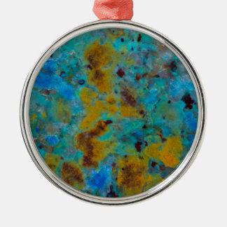 Spotted Blue Chrysocolla Jasper Christmas Ornament