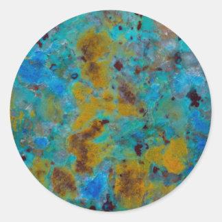 Spotted Blue Chrysocolla Jasper Classic Round Sticker