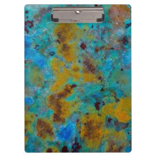 Spotted Blue Chrysocolla Jasper Clipboard