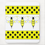 Spotted Bumble Bee Mousepad