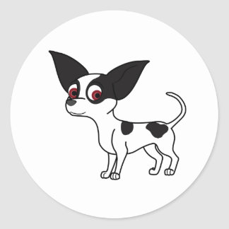 Spotted Chihuahua Round Sticker