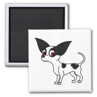 Spotted Chihuahua Square Magnet