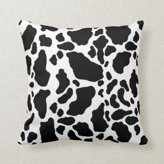 Spotted Cow Print, Cow pattern, Animal fur Cushion