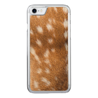 Spotted deer fur texture carved iPhone 8/7 case