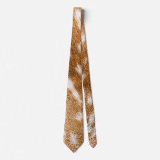 Spotted deer fur texture tie