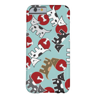 Spotted Doggies & Bones Cute Fun Puppy Blue Casing Barely There iPhone 6 Case