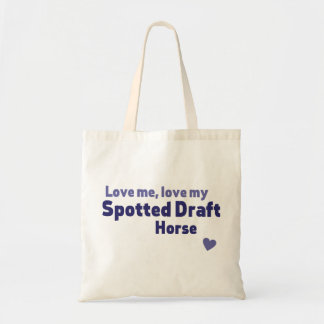Spotted Draft horse Budget Tote Bag