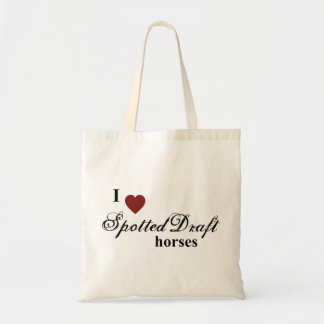 Spotted Draft horses Budget Tote Bag