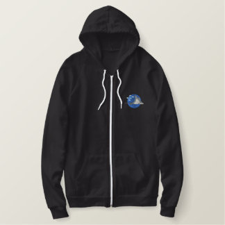 Spotted Eagle Ray Embroidered Fleece Hoodie