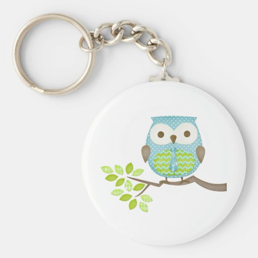 Spotted Executive Owl in Tree Key Chain