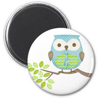 Spotted Executive Owl in Tree Magnet
