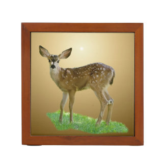 SPOTTED FAWN DESK ORGANISER