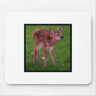 Spotted Fawn Walks Mouse Pad