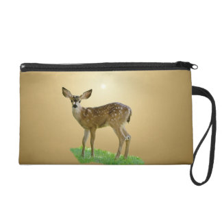 SPOTTED FAWN WRISTLET CLUTCHES