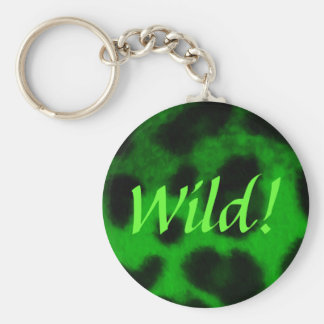 Spotted Green Leopard Key Ring