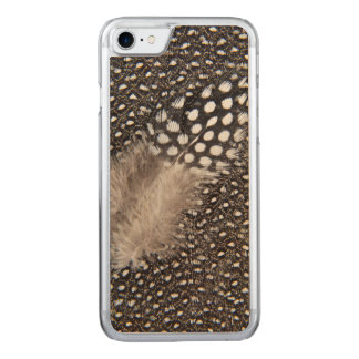 Spotted Guinea fowl feather Carved iPhone 7 Case