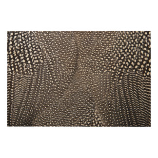 Spotted Guineafowl Feather Abstract Wood Print