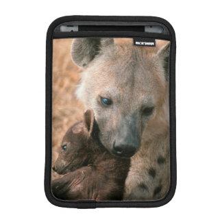 Spotted Hyena (Crocuta Crocuta) With Pup iPad Mini Sleeve