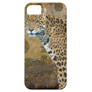 Spotted Jaguar & Mayan Temple iPhone 5 Case