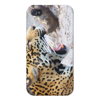 Spotted Jaguar painted image iPhone 4/4S Covers