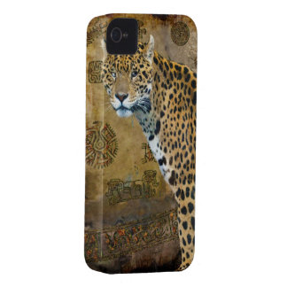 Spotted Jaguar Wildlife & Temple iPhone 4 Case