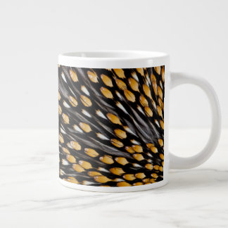 Spotted Jungle Fowl Feather Abstract Large Coffee Mug