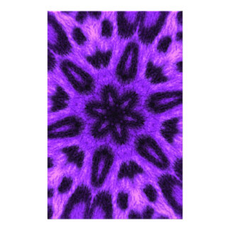 Spotted Lavender Leopard Kaleidoscope Custom Stationery
