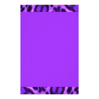 Spotted Lavender Leopard Stationery Paper