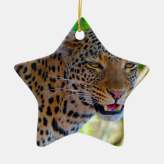 Spotted Leopard Christmas Ornament