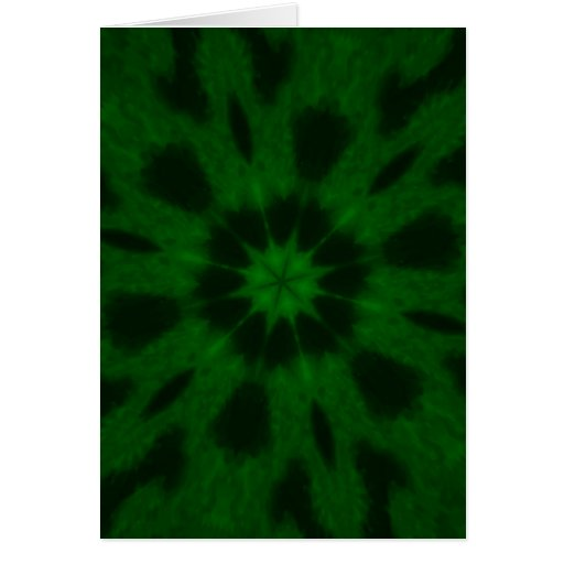 Spotted Leopard Green Kaleidoscope Greeting Card