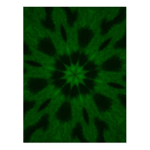 Spotted Leopard Green Kaleidoscope Postcard