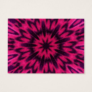 Spotted Leopard Pink Kaleidoscope Business Card