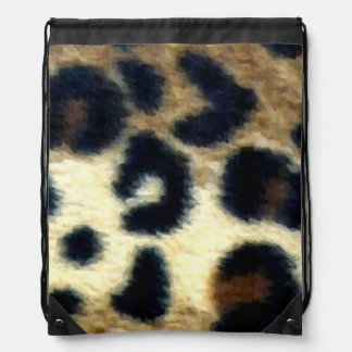 Spotted Leopard Print Cinch Bag