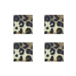 Spotted Leopard Print Stone Magnet