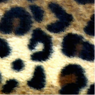 Spotted Leopard Print Photo Sculpture