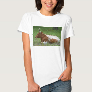 Spotted Longhorn Cow Tshirt