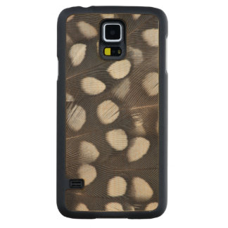 Spotted Mearns Quail Feathers Carved Maple Galaxy S5 Case