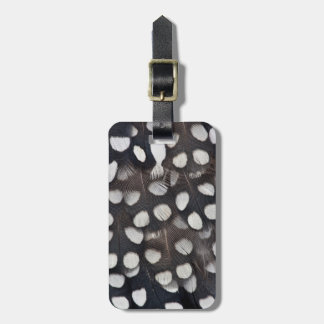 Spotted Mearns Quail Feathers Luggage Tag