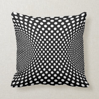 Spotted monochrome dot effect cushion