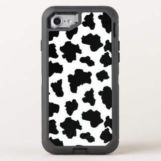Spotted Moo Cow Dutch Holstein Animal Spots OtterBox Defender iPhone 8/7 Case