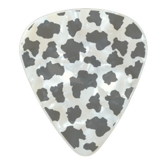 Spotted Moo Cow Dutch Holstein Animal Spots Pearl Celluloid Guitar Pick