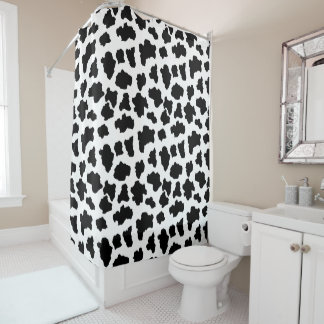 Spotted Moo Cow Dutch Holstein Animal Spots Shower Curtain
